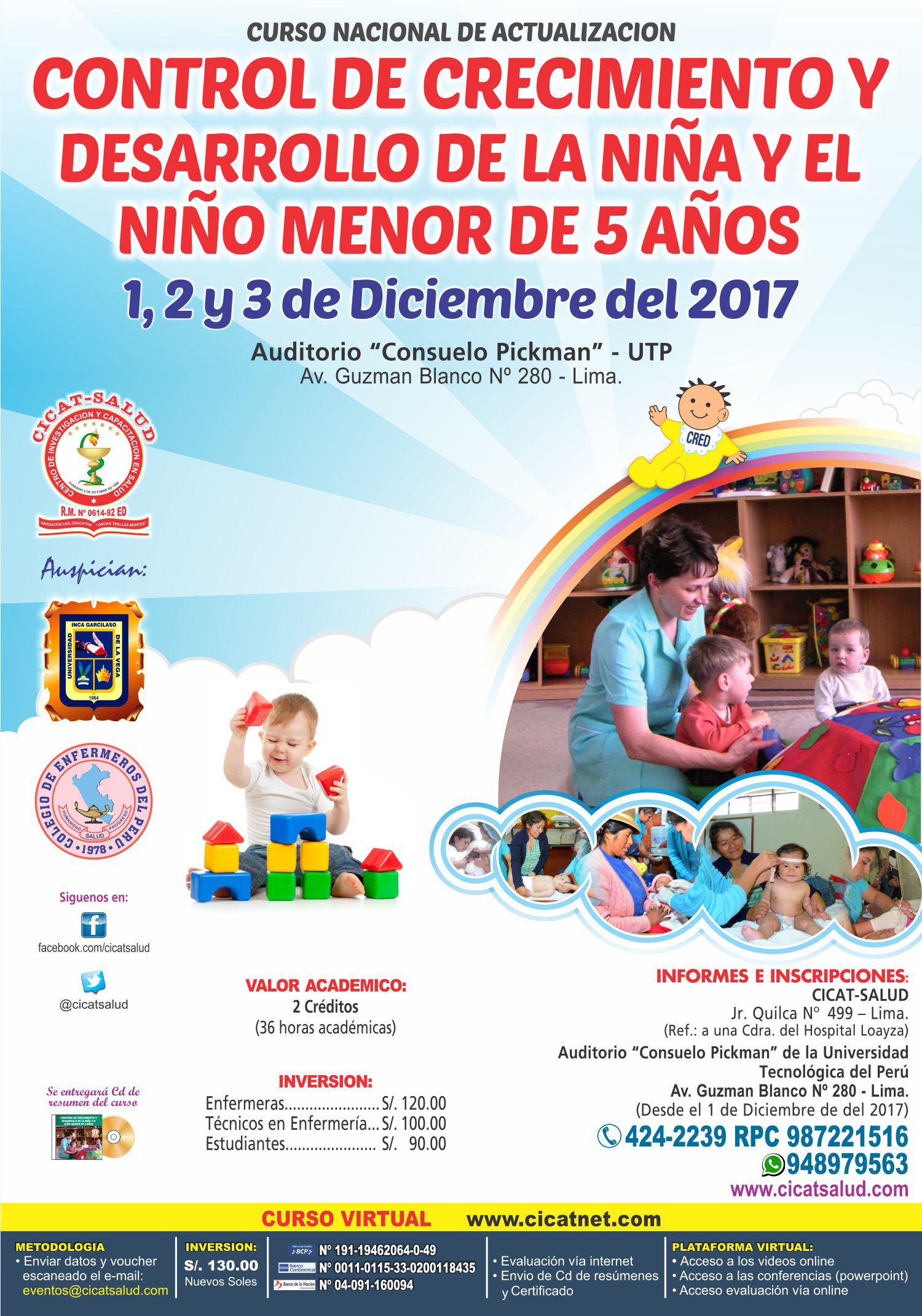 Crecimiento y Desarrollo de la Niña y el Niño menor de 5 años ... 3b269c22bb6